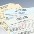 Foto de Stock  : Rejected loan applications