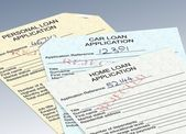 Rejected loan applications — Stock Photo