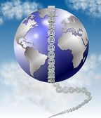 Symbol at and world — Stock Photo