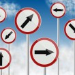 Direction traffic signs — Stock Photo #9876187