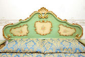 Baroque bed detail — Stock Photo