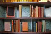 Staré knihy knihovny — Stock fotografie