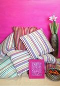 Renkli yastıklar — Stok fotoğraf