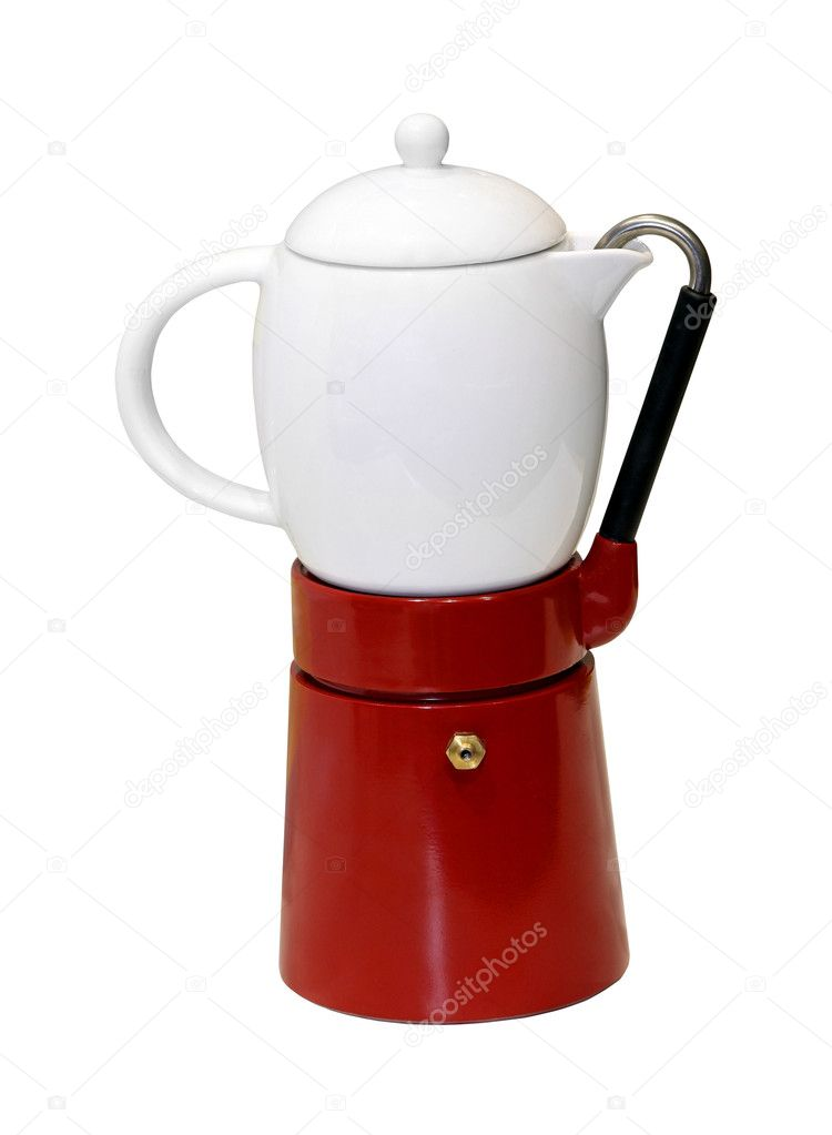 Retro coffee pot isolated   Stock Photo #8706813