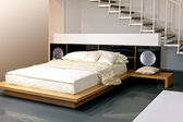 Dormitorio beige — Foto de Stock