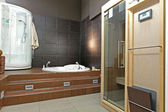 Bathroom spa — 图库照片