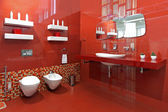 Bathroom red — Stock Photo