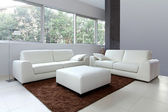 White living room new — Stock Photo