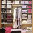 Towels shelf — Stock Photo #9462242