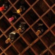 Wine shelf - Foto Stock