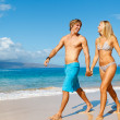 Young Couple on Tropical Beach — Stock Photo #10045428