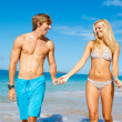 Young Couple on Tropical Beach — Stock Photo #10045435