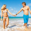 Young Couple on Tropical Beach — Stock Photo #10045479