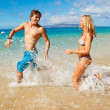 Young Couple on Tropical Beach — Stock Photo #10045517