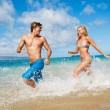 Young Couple on Tropical Beach — Stock Photo #10045519