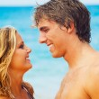 Young Couple on Tropical Beach — Stock Photo #10045544