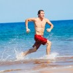 Runner on Beach — Stock Photo #10196504