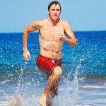 Runner on Beach — Stock Photo #10196508