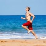 Runner on Beach — Stock Photo #10196516