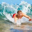 Body Surfing at the Beach - Photo