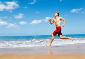 Runner on Beach — Foto Stock