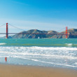 The Golden Gate Bridge in San Francisco with beautiful blue ocea — Stock Photo #10302270