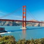 The Golden Gate Bridge in San Francisco with beautiful blue ocea — Stock Photo #10302274