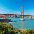 The Golden Gate Bridge in San Francisco with beautiful blue ocea — Stock Photo #10302275