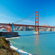 The Golden Gate Bridge in San Francisco with beautiful blue ocea — Stock Photo #10302284
