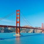 golden gate-bron i san francisco med vacker blå ocea — Stockfoto