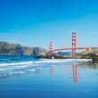 The Golden Gate Bridge in San Francisco with beautiful blue ocea — Stock Photo #10302299