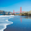 The Golden Gate Bridge in San Francisco with beautiful blue ocea — Stock Photo #10302312
