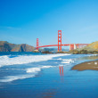 The Golden Gate Bridge in San Francisco with beautiful blue ocea — Stock Photo #10302314