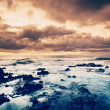 Storm on the Sea, Ocean Storm at Sunset — Stock Photo