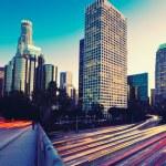 Urban City at Sunset — Stock Photo