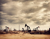Oil Field in Desert, Oil Production — Stock Photo