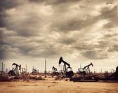 Oil Field in Desert, Oil Production — Stock Photo