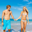 Couple on the Beach - Foto Stock