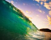 Coucher de soleil vague — Photo