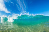 Beautiful Sunny Blue Wave — Stock Photo