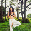 Yoga woman outside in nature — Stock Photo #10678420