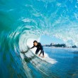 Stock Photo: Surfer On Blue OceWave