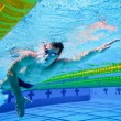 Stock Photo: Swimmer in the Pool Underwater