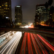 Los Angeles, Urban City at Sunset with Freeway Trafic — Stock Photo #8453416