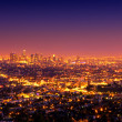 los angeles, urban city at sunset — Stock Photo