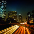 Los Angeles, Urban City at Sunset with Freeway Trafic — Stockfoto