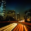 Urban City at Night — Stock Photo