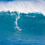 Постер, плакат: MAUI HI MARCH 13: Professional surfer Yuri Soledade rides a g