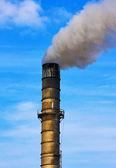 Fabriek rook stapel — Stockfoto