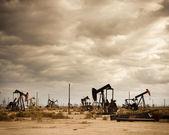 Oil Field in Desert — Stock Photo